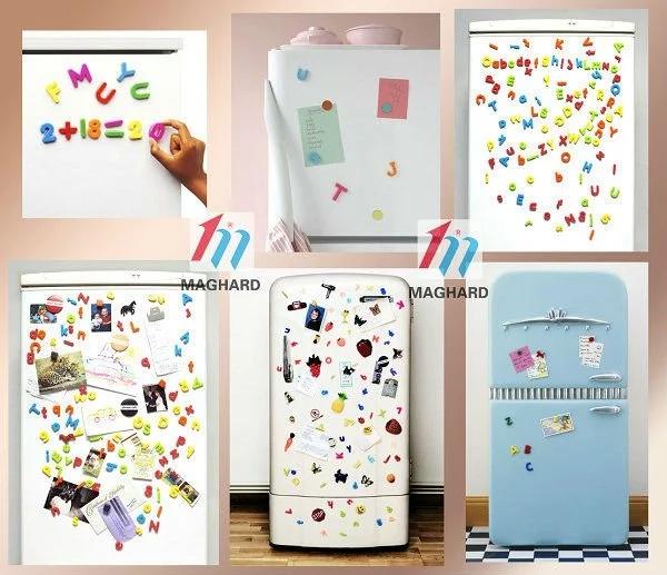 Novos Kits Diy Brinquedos Educativos EVA Alfabeto Magnético com placa branca