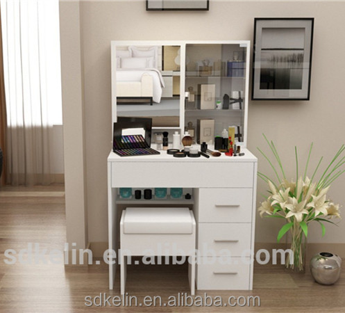 Cheap Bedroom Furniture White Color Modern Style Dressing Table