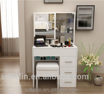 Cheap Bedroom Furniture White Color Modern Style Dressing Table With Mirror  And Drawers - Buy Makeup Dresser With Mirror,Vanity Dresser With ...