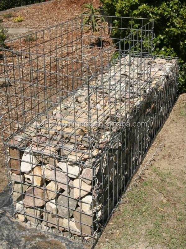 Treillis m tallique soud gabion box mur de pierre - Prix treillis soude ...