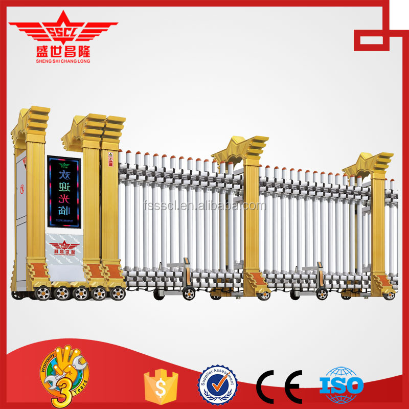12 YEARS FACTORY! Security electric gate iron main gate, stainless gate-L1510