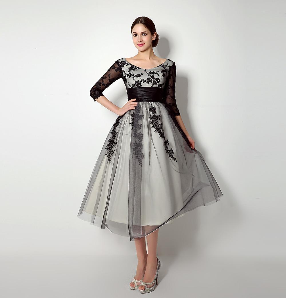 6404efe8f9c Mother Of The Bride Tea Length Dresses 2016