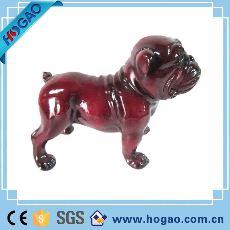 Home decoration outdoor factory custom ornaments resin dog figurine statue