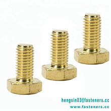 China Fastener Fabrikant DIN931 DIN933 <span class=keywords><strong>Koper</strong></span> Messing Zeskantbout