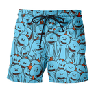 2018 men 3D digital printed cotton casual beach shorts cartoon beachwear