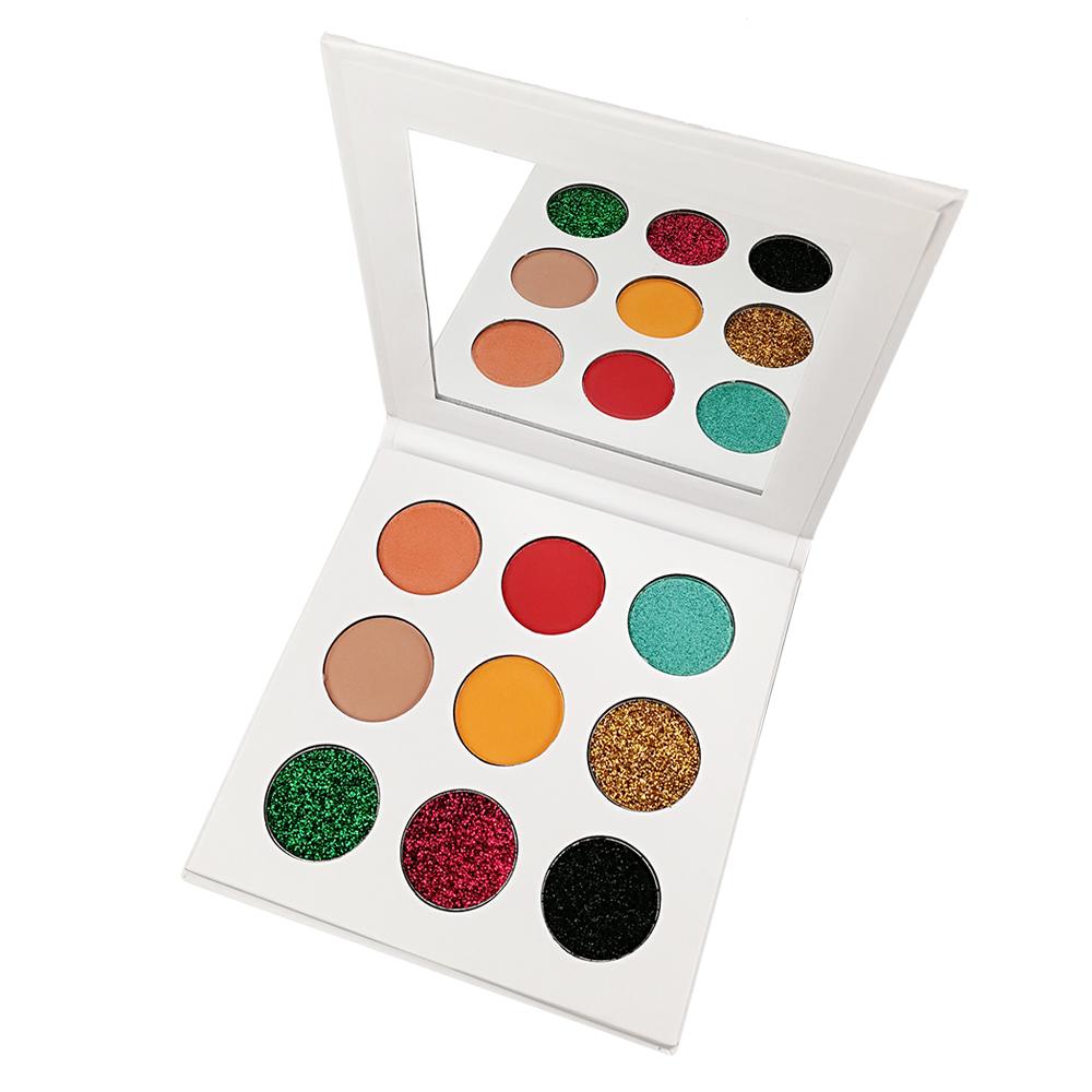 Wholesale Glitter Highlighter Brightening Eyeshadow Waterproof Metal Eye Makeup High Pigment Shimmer Eye Shadow Palette Cosmetic
