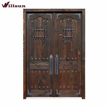 America Style Entrance Door Design Wrought Iron Exterior Doors Front