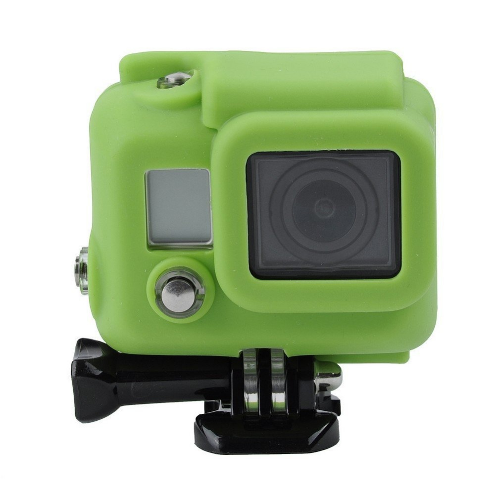 Go Pro Accessories Silicon Gel Protective Case for Gopro Hero 4 Hero 3 3+ Dirtproof Silicone Cover for Hero4 Hero3