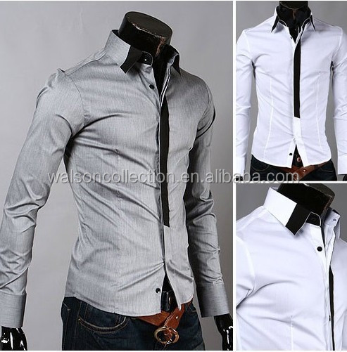 Hot Sale Spring New Fashion Casual Men's Solid Color Long-Sleeved Shirt