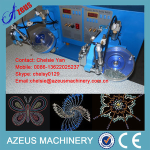 Apparel Machinery two head two color hot fix rhinestone machine for clothes