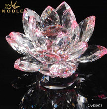 Decorative Crystal Lotus Flower For Candle Holder
