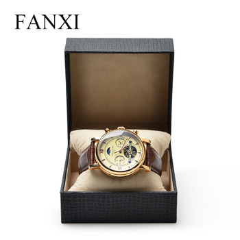 FANXI Custom Popular Special Leatherette Paper Box Velvet Pillow For Bracelet Bangle Jewelry Storage Packaging Watch Display Box