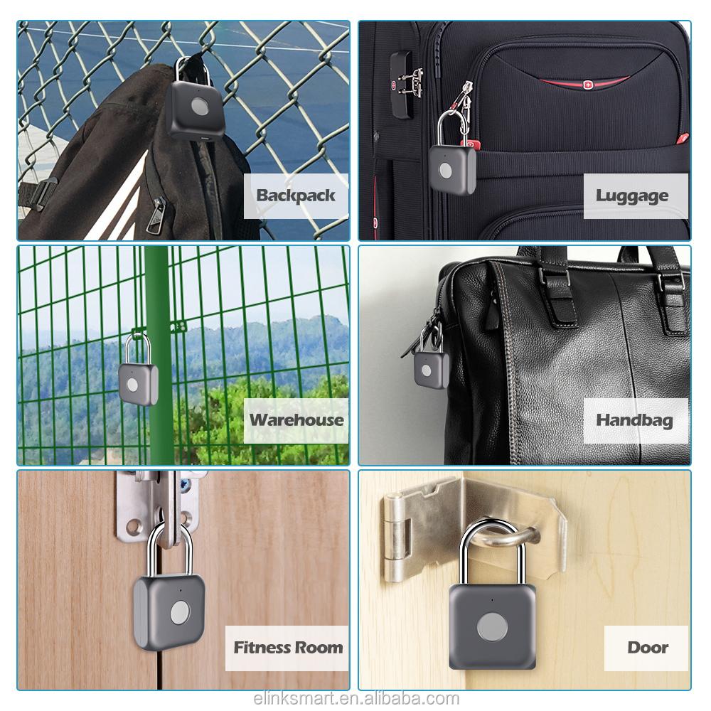 Mini candado huella elinksmart P8 candados, cerraduras y cerraduras de la puerta
