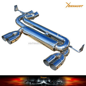 "Stainless dual catback for bmw exhaust muffler e46 01-06 M3 AXLE BACK 2.5"" 2.75"" TIP"