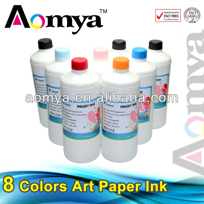 Aomya factory price water based art paper pigment ink for epson l210