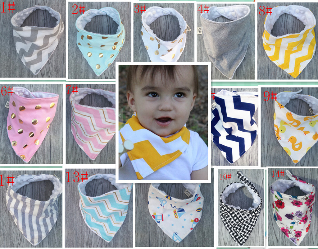 2016 Cartoon Cotton Waterproof Newborn Baby Bandana Bibs Kid Triangl Bib Scarf Towel Baby Stuff Burp