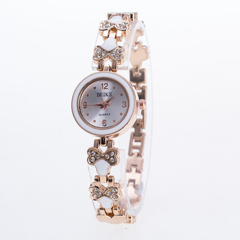 8fb9938be New Design Lovely Flower Women's Watch Rose Gold Bracelet Wrist Wacth Girls  Ladies Dress Watches