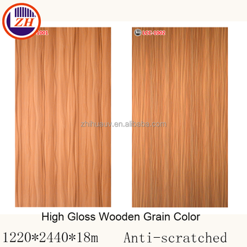 High Glossy Sheet Panel Sizes18mm Interiores Wood Price Melamine