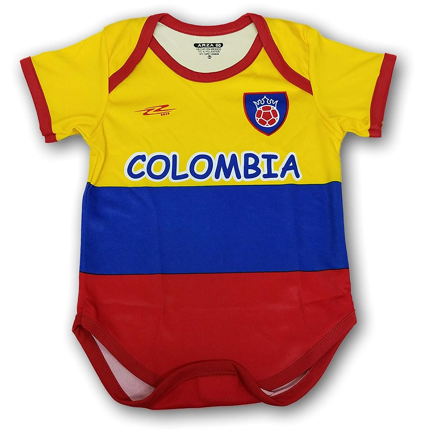 48d3e881f35 Get Quotations · Arza Sports Colombia Soccer Baby Outfit Onesie mameluco