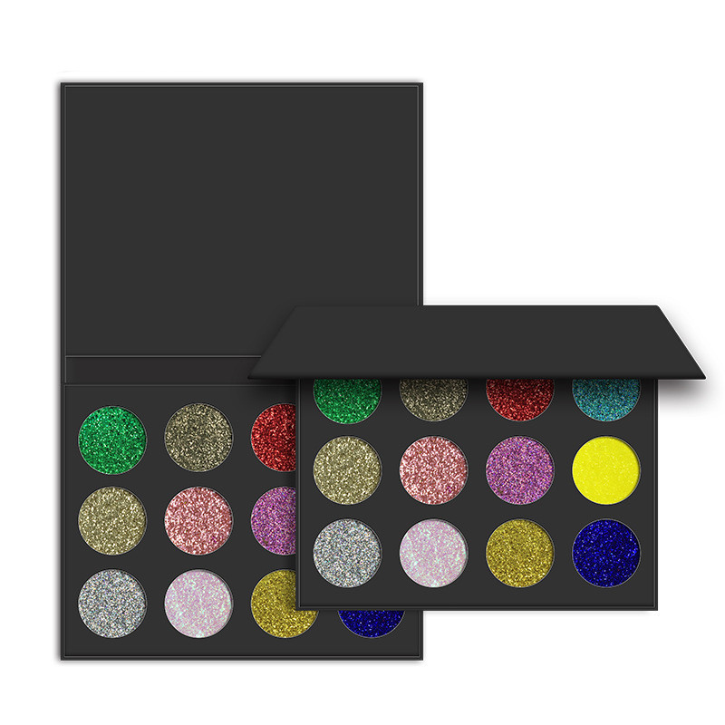 Hot Sell Private Label Empty Eyeshadow Palettes Wholesale Pressed Glitter Eyeshadow