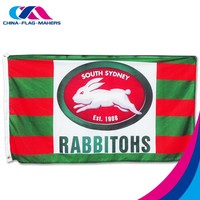 rush order custom double layer print large promotion nylon flag