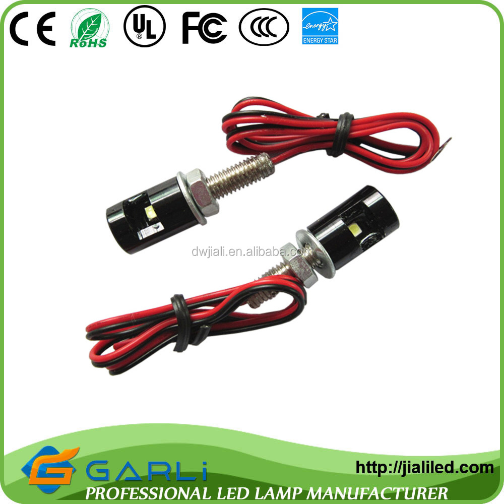 registration mark light with red cable 5mm 12v led white