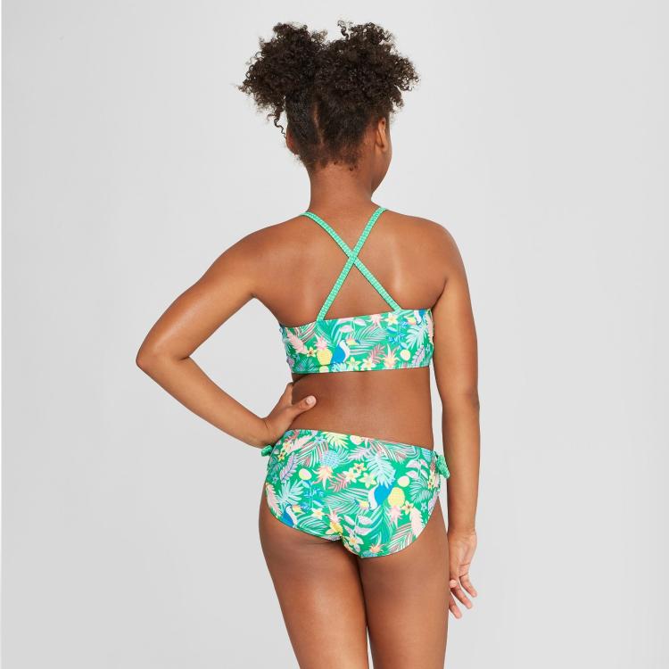 b94b93455bc 2018 hot sale cute little girls custom print swimwear bikini for kids