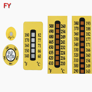 Hot sale temperature indicating color change sticker label