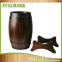 wooden garden decoration barrel