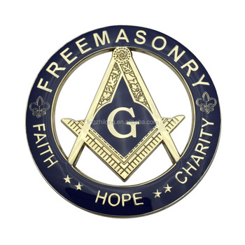 Masonic Symbol Metal Letters For Car Emblem Custom Freemason