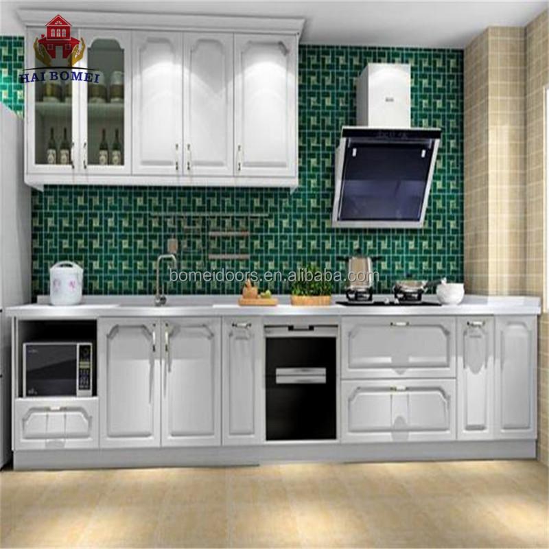 Simple Design White Wood Kitchen Cabinet Used Cabinets Set Wooden Craigslist Kichen Sets