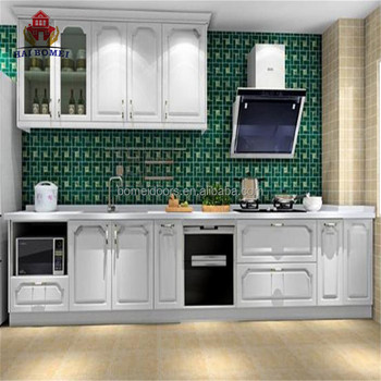 Simple Design White Wood Kitchen Cabinet Used Cabinets Set
