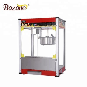 High Efficiency Automatic Electric Commercial Snack Equipment Sweet Capacity 8 OZ Industrial Gas Popcorn Machine Price