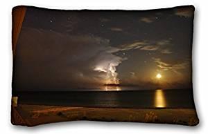 Generic Boys' Nature Beaches water beach distance storm lightning Nature Beaches 20x30 Inch