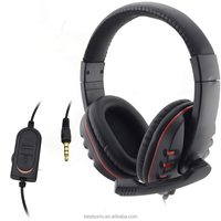 Big Wired Stereo Bass Gaming Headset With Mic For Xbox 360, PS4, PC