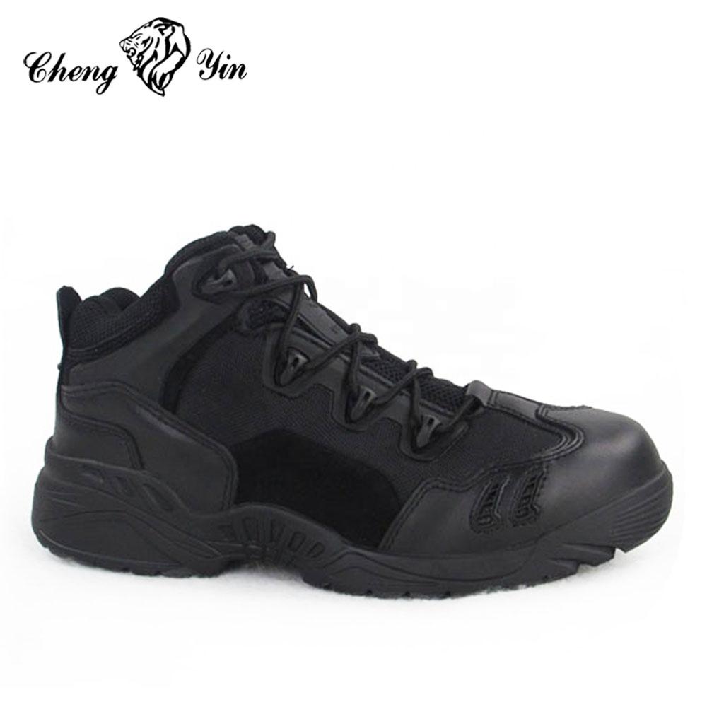 EE. UU. Los diseñadores ejército puro hecho a mano zapatos del ejército policía botas de cuero negro proveedor de alibaba