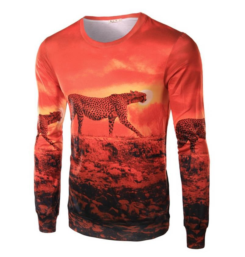 06da76c9cb40 Buy Harajuku Mens 3D Animal Printed T shirt Sunset  Cheetah Rabbit Eagle Horror Pirate Tops shirt Casual Funny Male t-shirts  Clothes in Cheap Price on ...