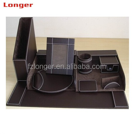 Set Leather Desktop Stationery Gift