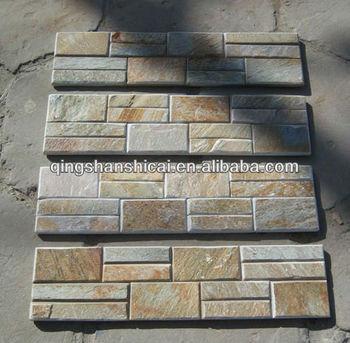 3d Decoration Stone Wall Panel Slate Stacked Decorative Stone Brick ...