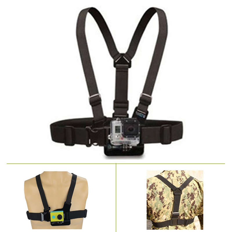 Go Pro Accessories Adjustable Chest Mount Harness Chest Strap Belt for GoPros HD Hero4 3+ 3 1 2 SJ4000 SJ5000
