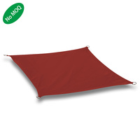 High Quality Sun Screen Fabric 3.6x3.6m Square Brown Shade Canopy Shade Sail Waterproof Sun Shade