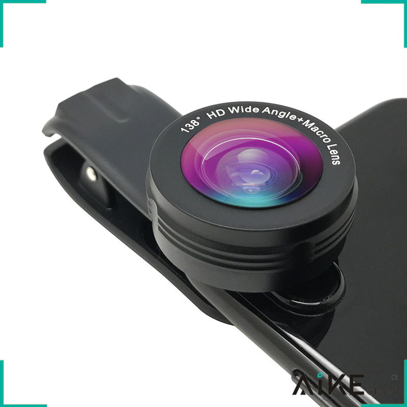 Best selling products 2017 in usa amazon mobile phone wide angle macro camera lens 2 in 1 kit for any smartphone