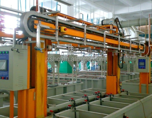 Anodizing Machine Electroplating Equipment Aluminium Zinc Copper Golden Chrome Plating Line