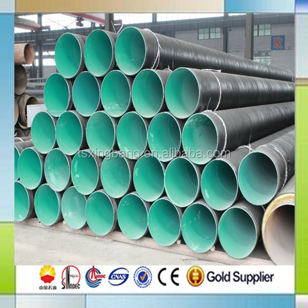 outside 3 layer pe coating inside epoxy coating steel pipe