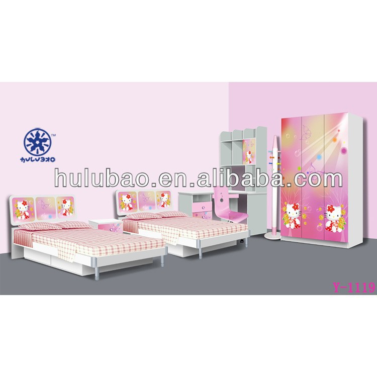 9906 Hello Kitty Pink Pretty Girl Twins Children Bed/double Kids ...
