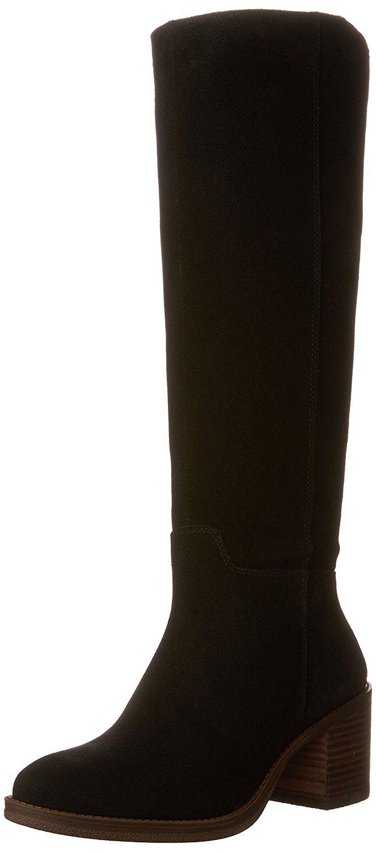 0e82ccebc2a Get Quotations · Lucky Brand Ritten Wide Calf Women US 8.5 Black Knee High  Boot