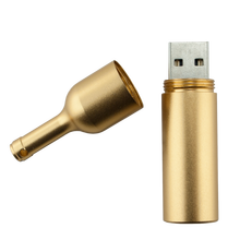 Wine Bottle Shape USB Flash Drive with Customized Logo