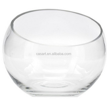 Oval Large Glass Vase And Glass Fish Bowl With Oblique Mouth Buy
