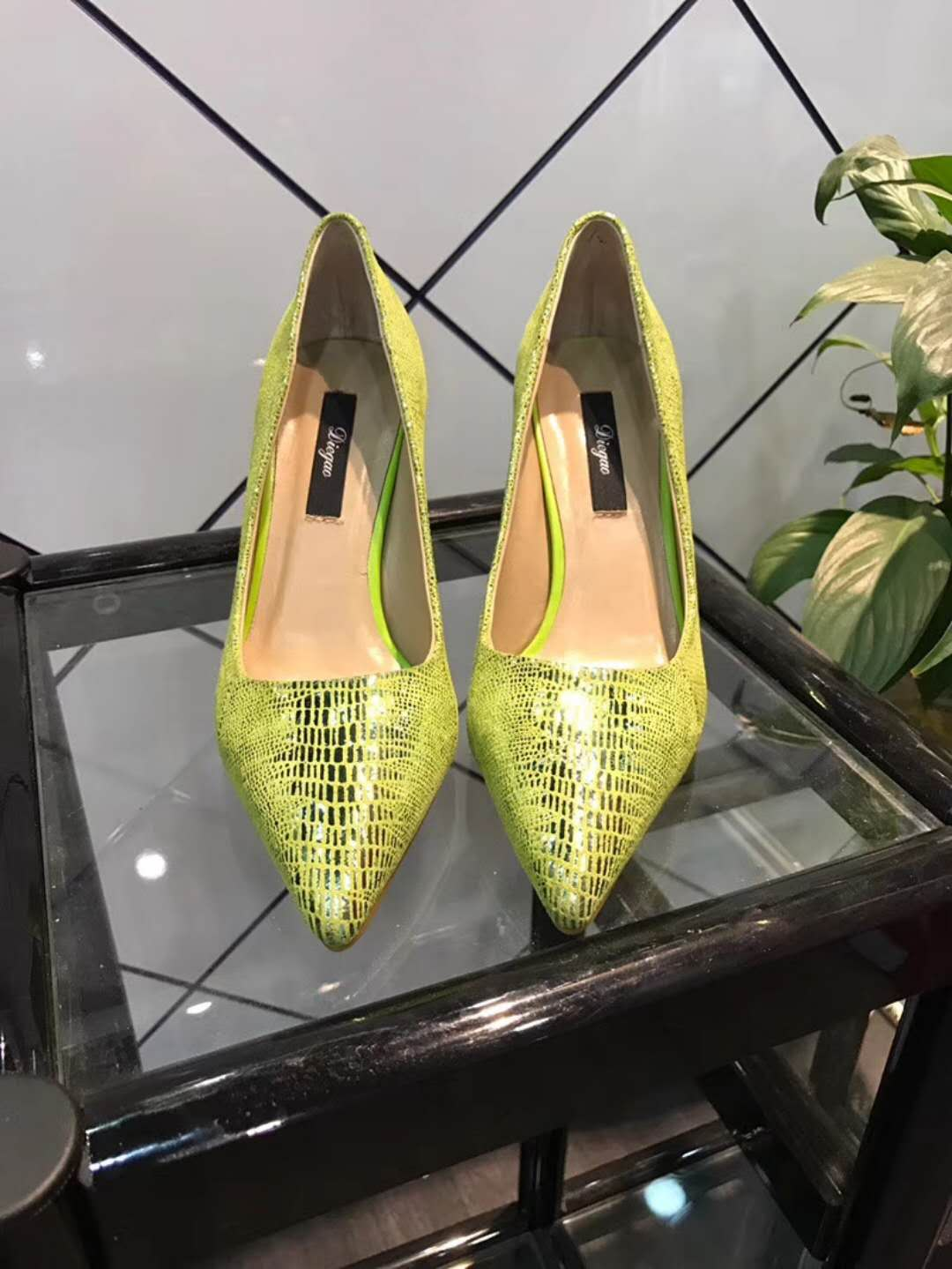 genuine fluorescence toe dress leather stiletto sexy shoe pointy lady qq5nR6Owr