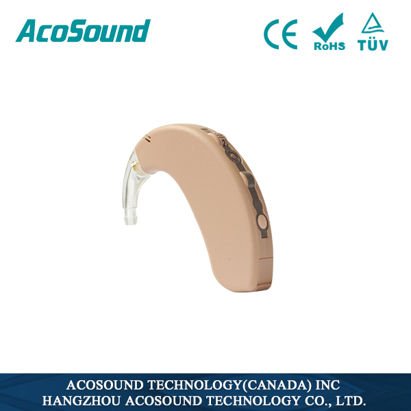 Acosound Acomate 410 BTE-Plus 4 Channels Digital Programmable Hearing Aids Comfortable Wearing For Hearing Loss Group